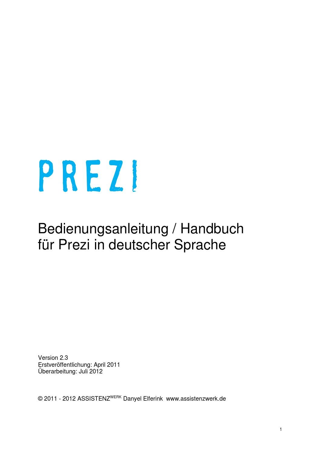 Prezi handbuch deutsch 2 3 by Roman Portmann - issuu