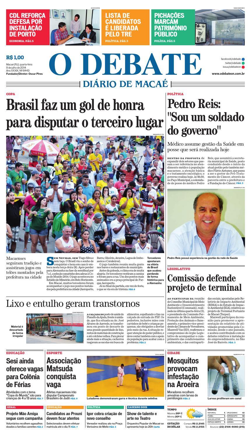Noticiário 09 07 14 by O DEBATE Diario de Macae - issuu e3dc98e7300c4