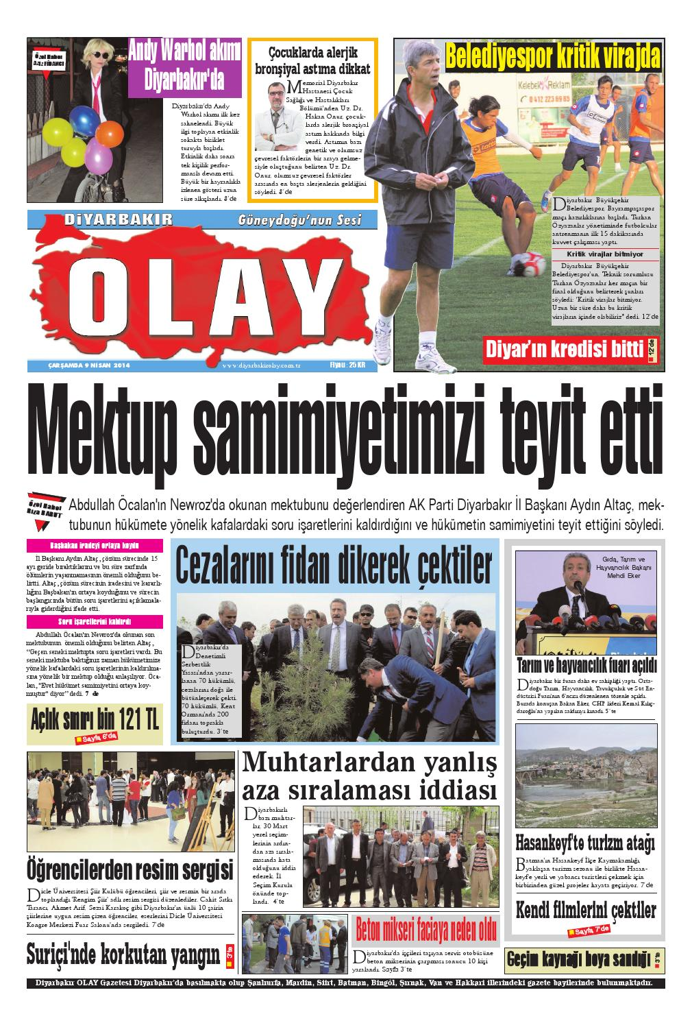 09 07 2014 Gazete Sayfalari By Diyarbakir Olaygazetesi Issuu