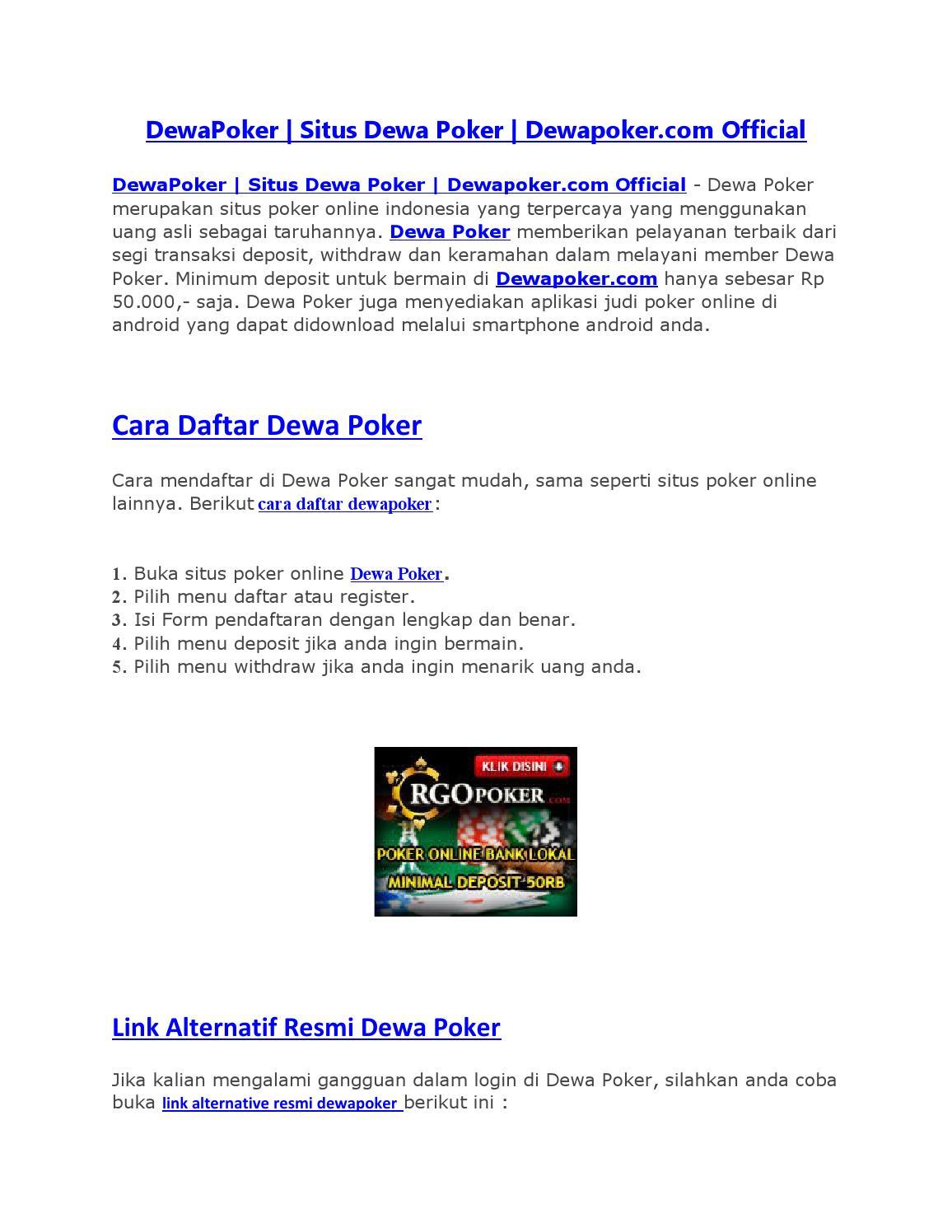 Dewapoker Situs Dewa Poker Dewapoker Officialdoc By Dewaseo Issuu