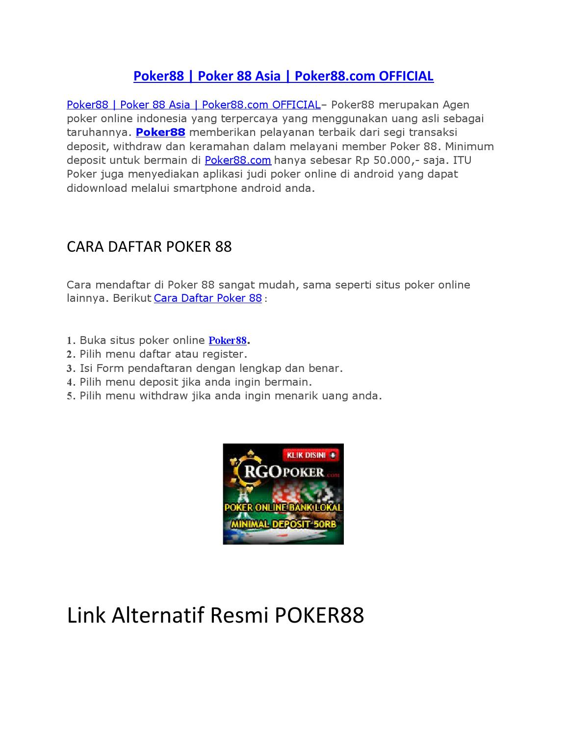 Poker88 Academiaedudoc By Dewaseo Issuu