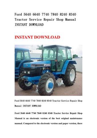 ford 5640 6640 7740 7840 8240 8340 tractor service repair shopford 8340 wiring  diagram #13
