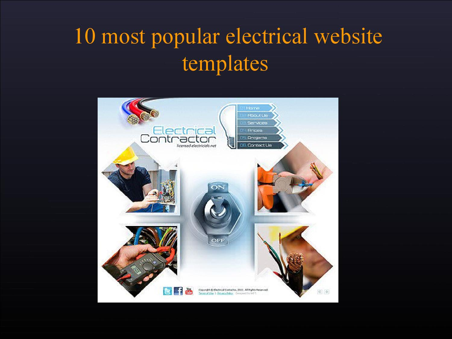 10 best electrical website templates by tonytemplates