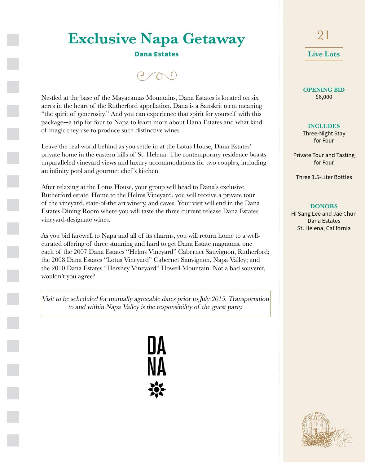 2014 Wine Auction Catalog