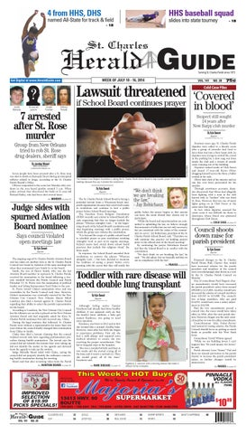 St  Charles Herald Guide - July 10, 2014 by Louisiana