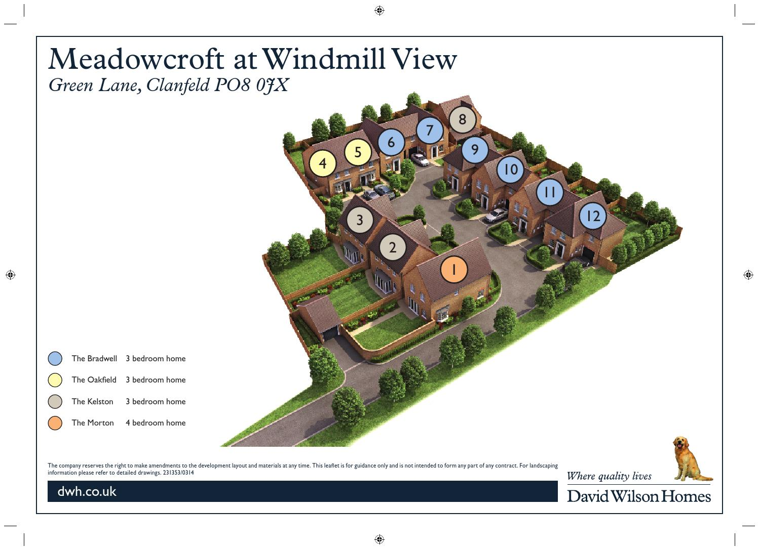David Wilson Meadowcroft At Windmill View By Newhomesforsale Co Uk Issuu