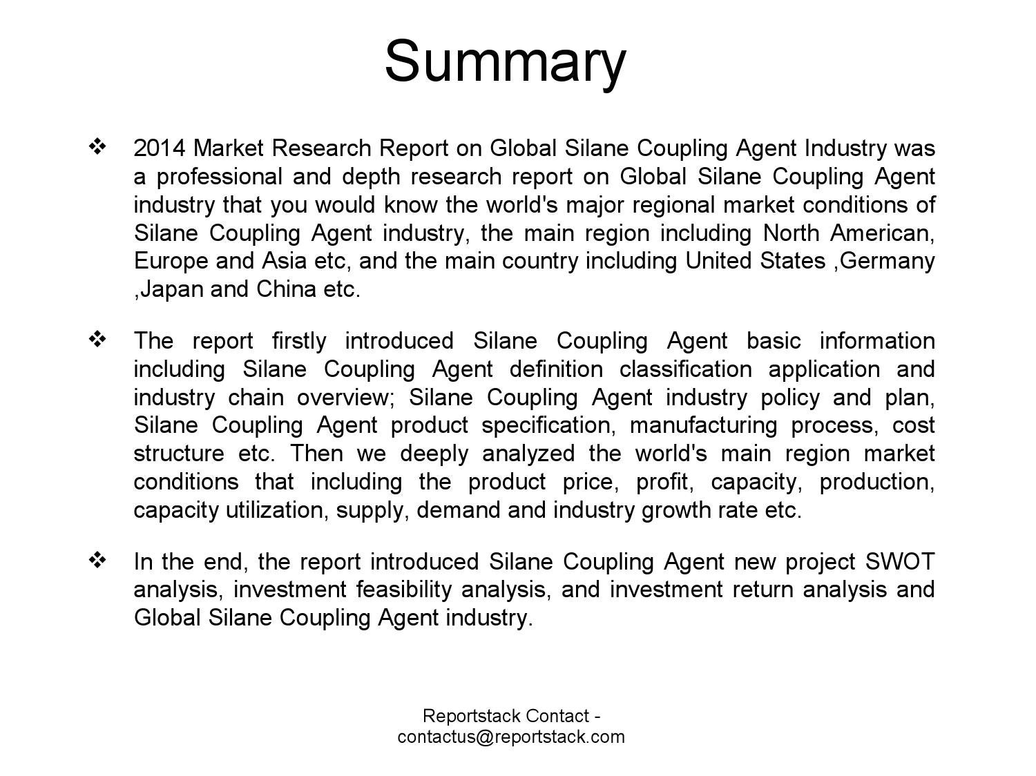 2014 market research report on global silane coupling agent
