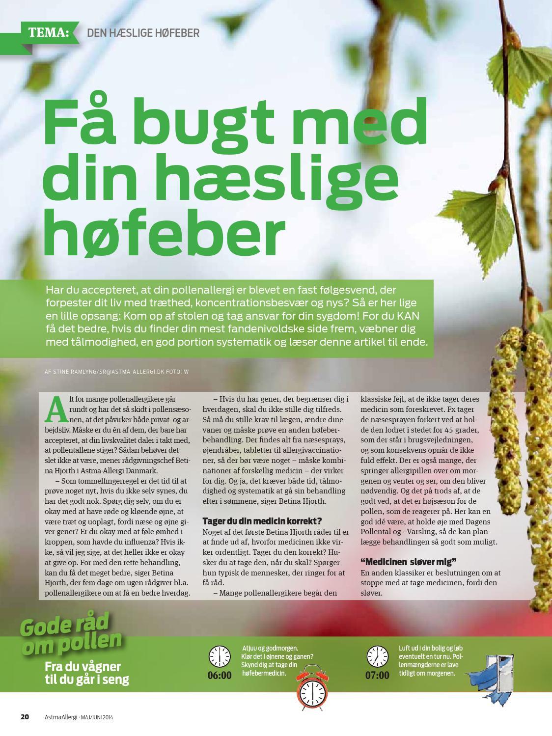 Høfebermedicin 2014 by Astma-Allergi Danmark - Issuu