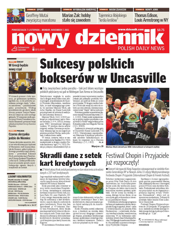 Nowy Dziennik 20111107 By Nowy Dziennik Issuu