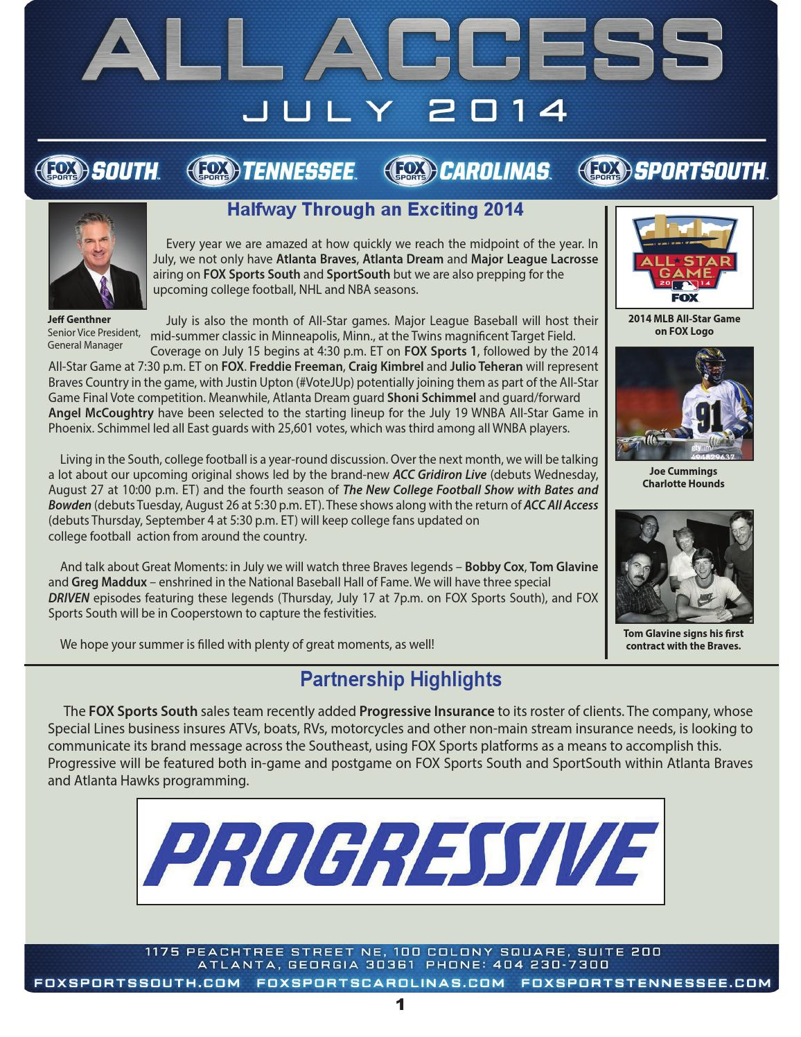 FOX Sports South July 2014 Newsletter by FOX Sports South - issuu