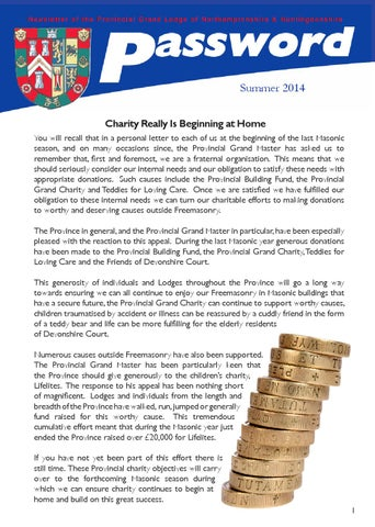 Password Summer 2014 by Northants and Hunts Masons - issuu