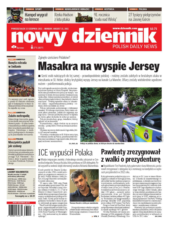 Nowy Dziennik 20110815 By Nowy Dziennik Issuu