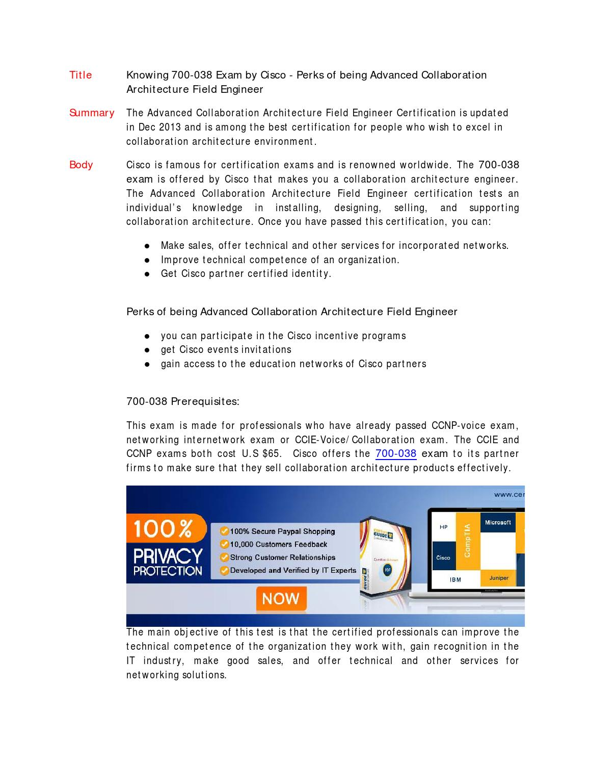 Collaborative Teaching Degree ~ Advanced collaboration architecture field engineer