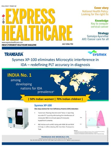 Express Healthcare July, 2014 by Indian Express - issuu