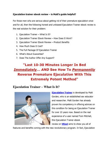 The Ejaculation Trainer Ebook