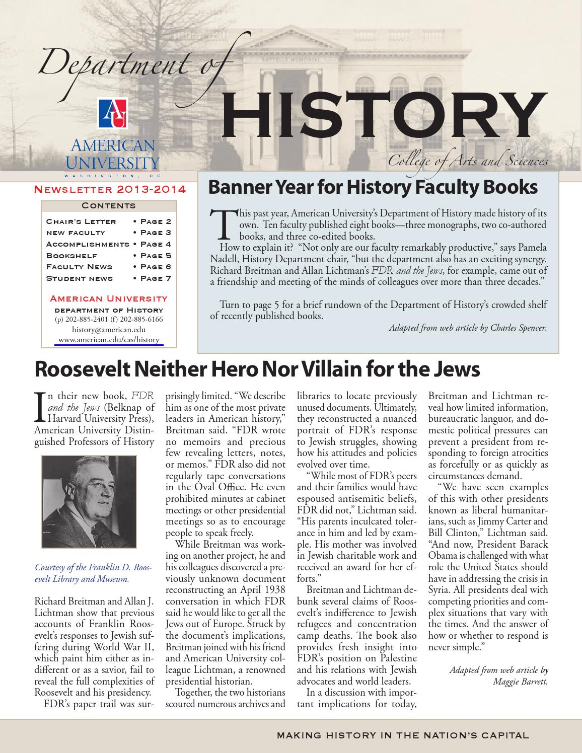 History Newsletter 2013-14 by American University College of Arts ...