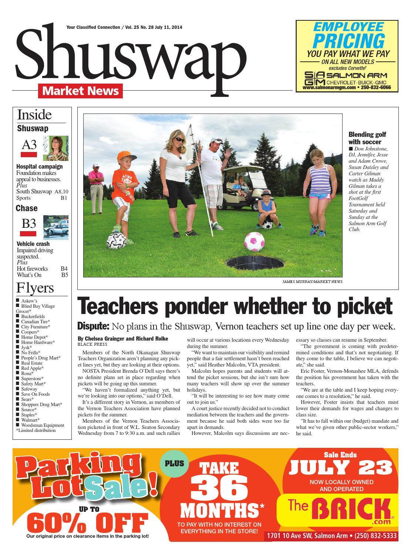 2b437e2c Salmon Arm Observer, July 11, 2014 by Black Press Media Group - issuu