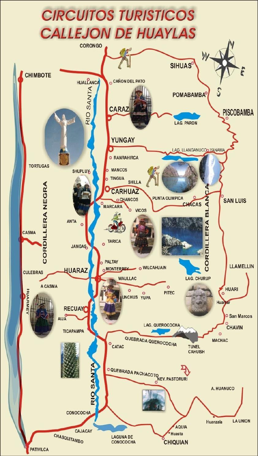 Mapa Tur 237 Stico Callej 243 N De Huaylas By Visit Peru Issuu