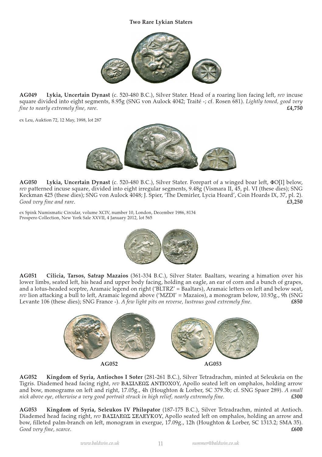 baldwins coins fixed price list