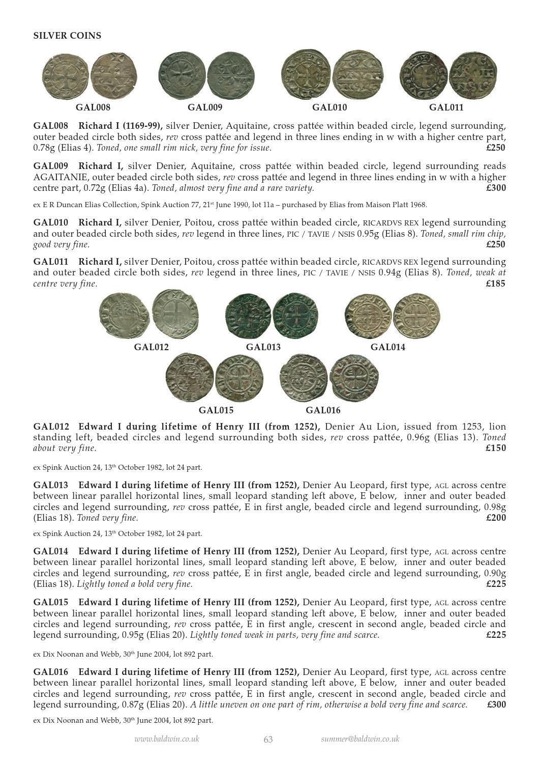 Baldwins Fixed Price List Summer 2014 By A H Baldwin