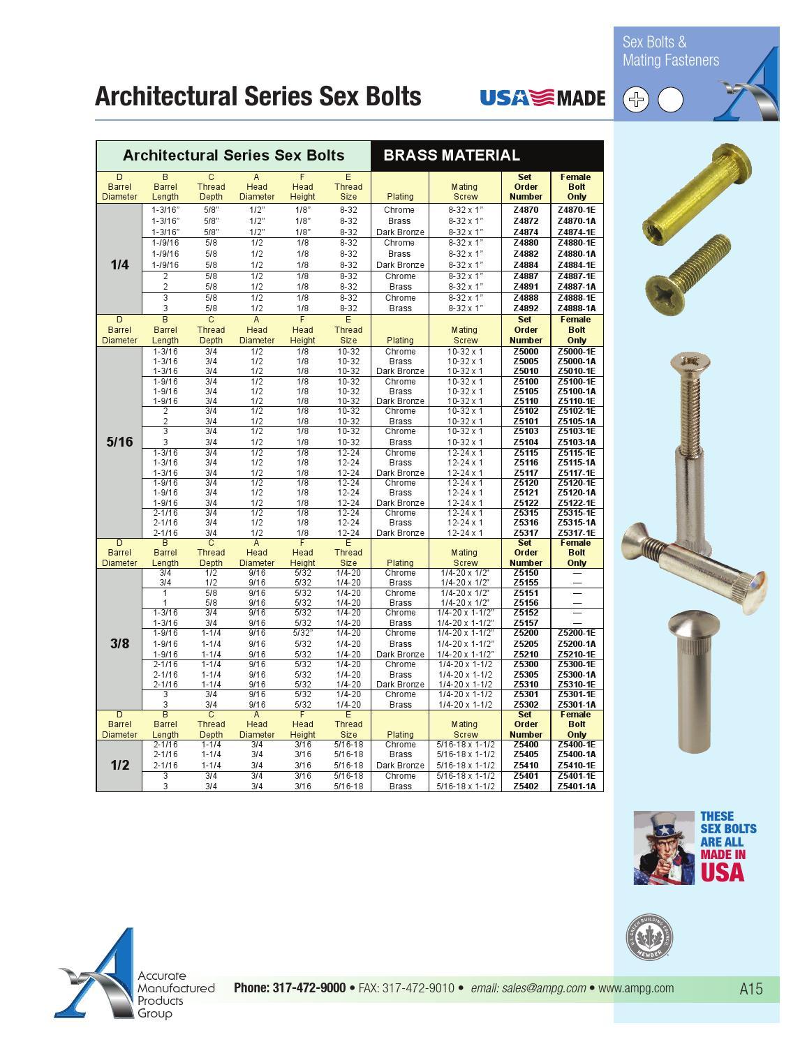 Brass Chrome Ampg Z5157-1E Brass Chrome Barrel Bolt