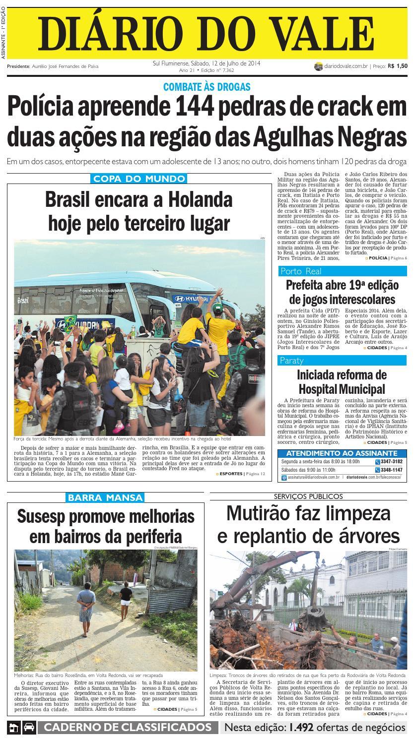 7362 diario sabado 12 07 2014 by Diário do Vale - issuu e85e68dc6c3f4