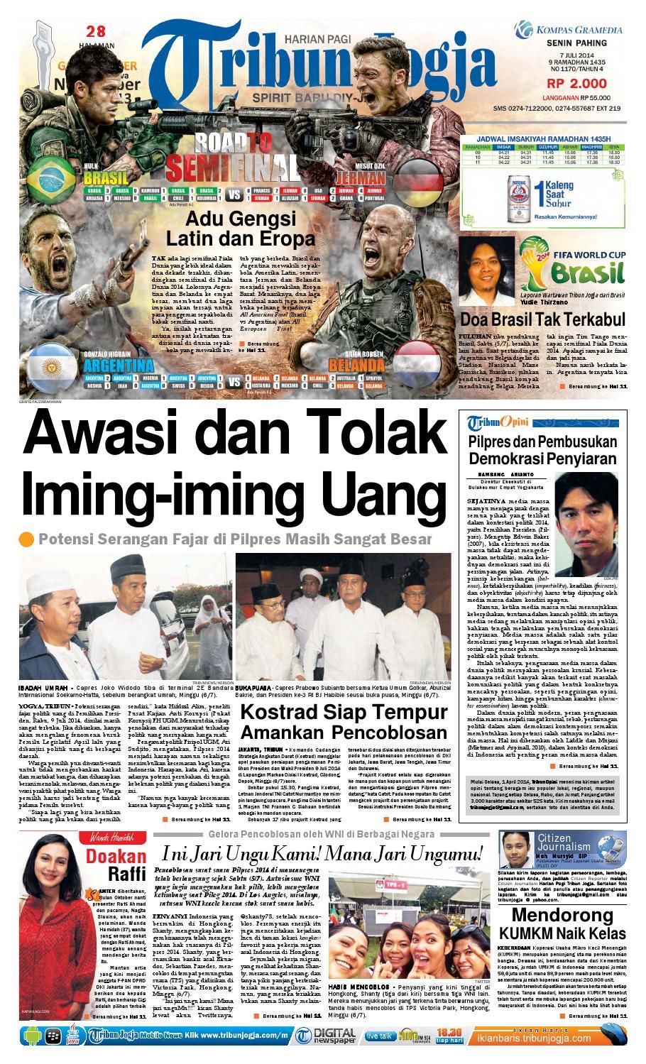 Tribunjogja 07 2014 By Tribun Jogja Issuu Produk Ukm Bumn Tenun Pagatan Kemeja Pria Biru Kapal