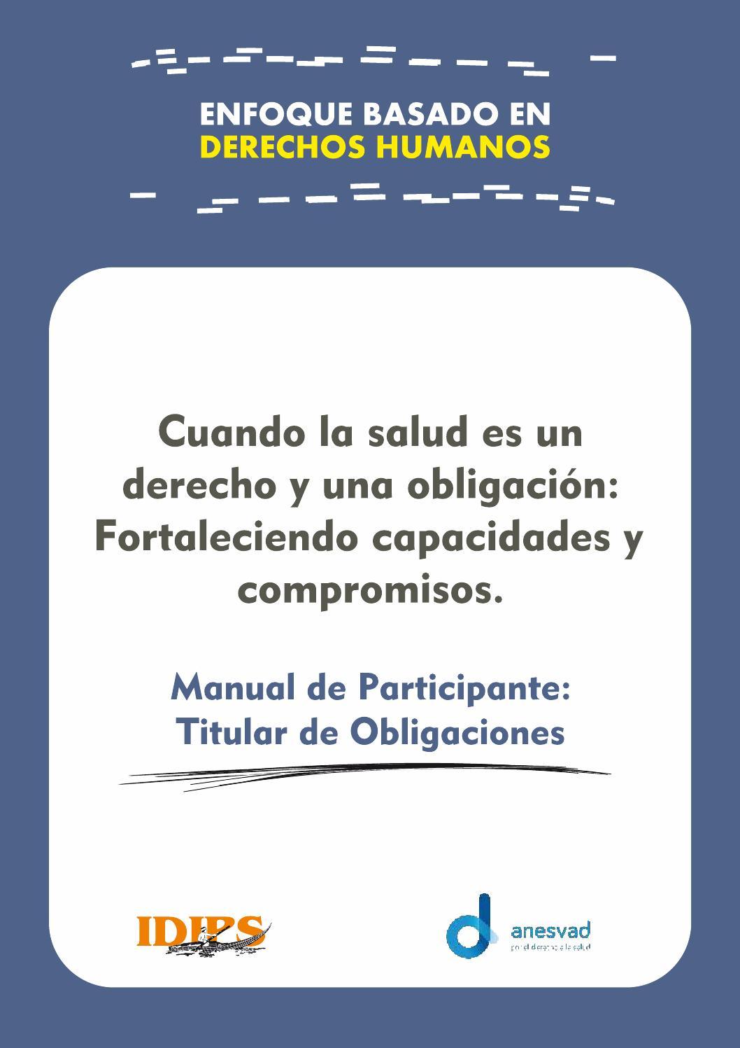 Manual del Titular de Obligaciones: Cuando la Salud es un Derecho y ...