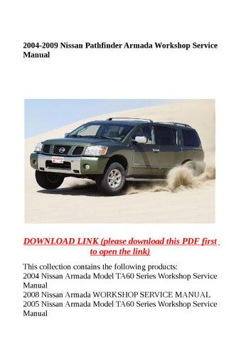 2009 nissan armada service manual