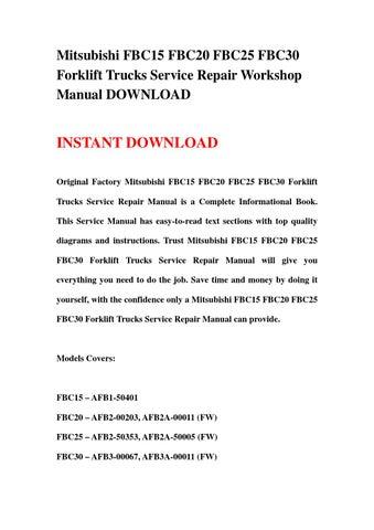 page 1  mitsubishi fbc15