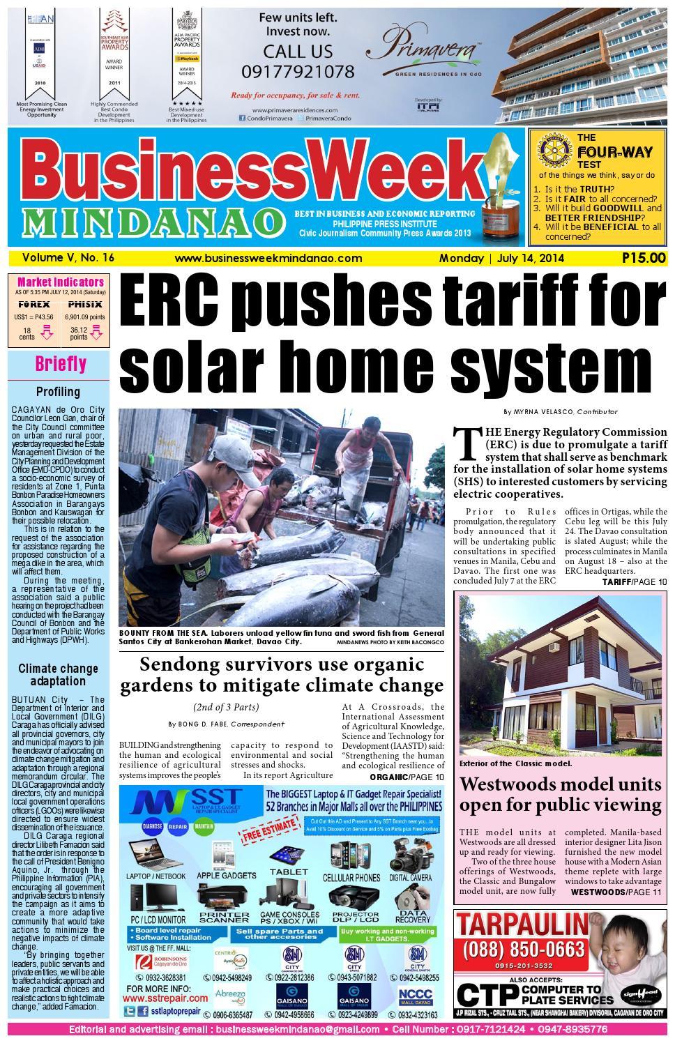 BusinessWeek Mindanao (July 14, 2014) by Mindanao Daily News