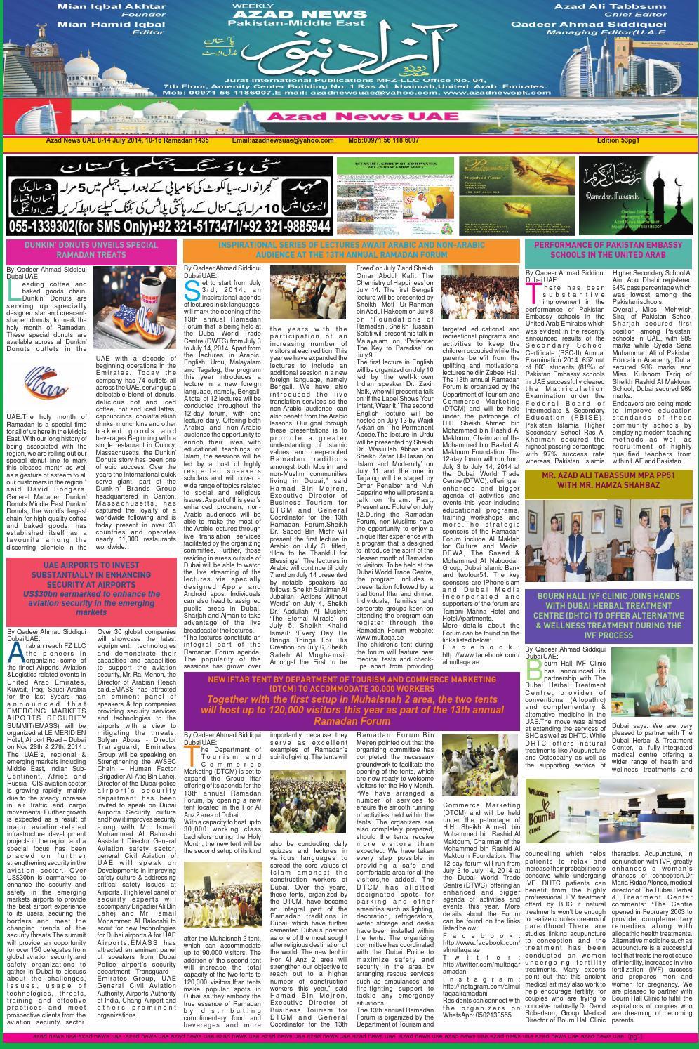 Azad news edition 53 by Qadeer Ahmad Siddiqui - issuu