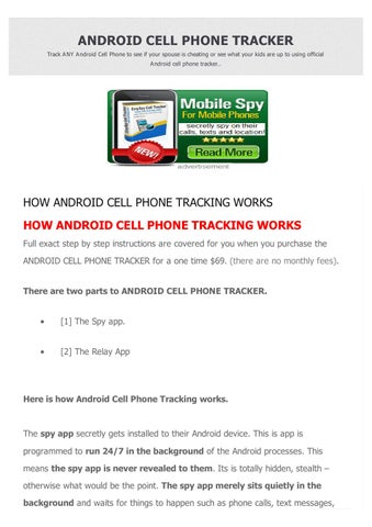 Android cell phone tracker by Mamun Sarkar - issuu
