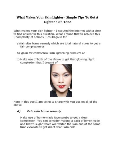 What makes your skin lighter simple tips to get a lighter skin what makes your skin lighter simple tips to get a lighter skin tone what makes your skin lighter x20acx201c i scouted the internet with a view to ccuart Image collections