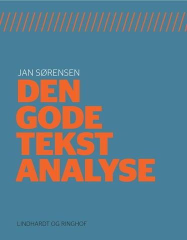 Den gode tekstanalyse by Alinea - issuu