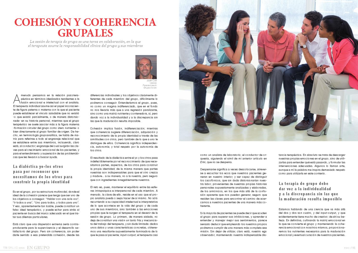 Cohesion Y Coherencia Grupales By Jose Garcia Issuu