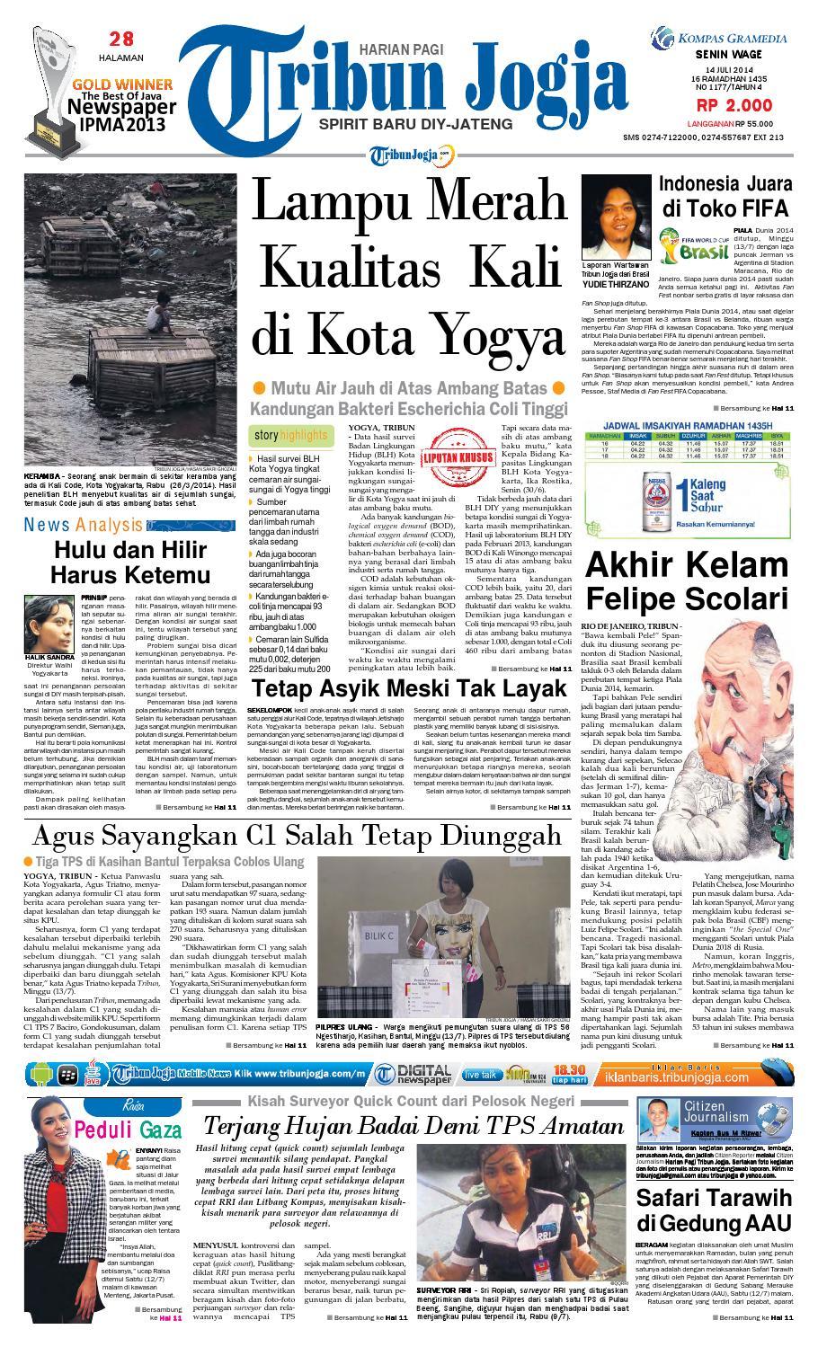 Tribunjogja 14 07 2014 By Tribun Jogja Issuu Produk Ukm Bumn Dress Gamis Batik Motif Ayam Bekisar