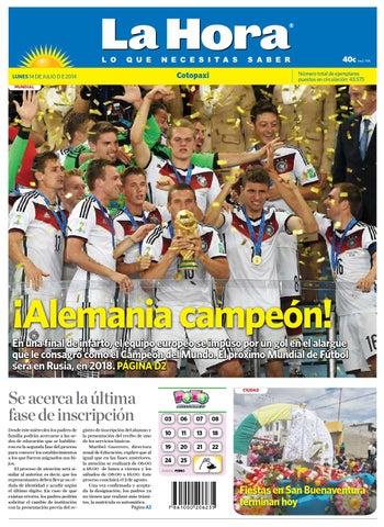 Cotopaxi 14 julio 2014 by Diario La Hora Ecuador - issuu 8603b69beac35