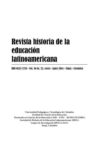 Revista Historia de la Educación Latinoamericana c91387bc88b