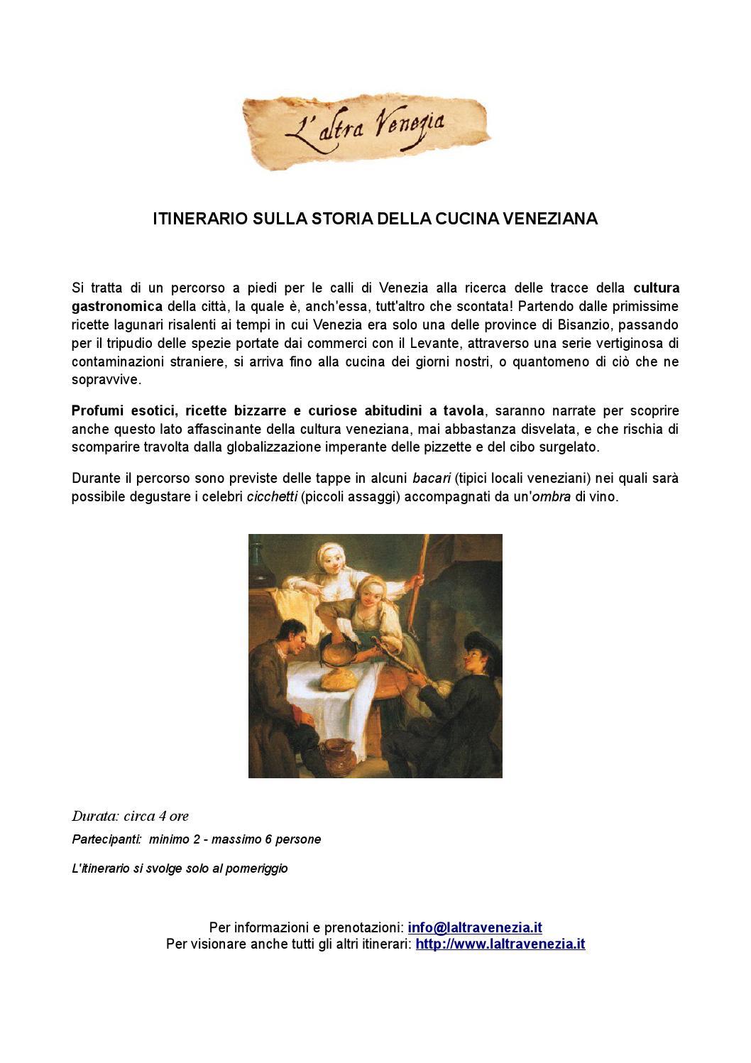 La Storia Della Cucina itinerario sulla storia della cucina veneziana by l'altra