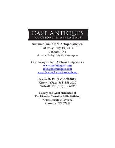 c5e4d039ba3 July 19 2014 auction catalog 071914 rev4 large by Case Antiques, Inc ...