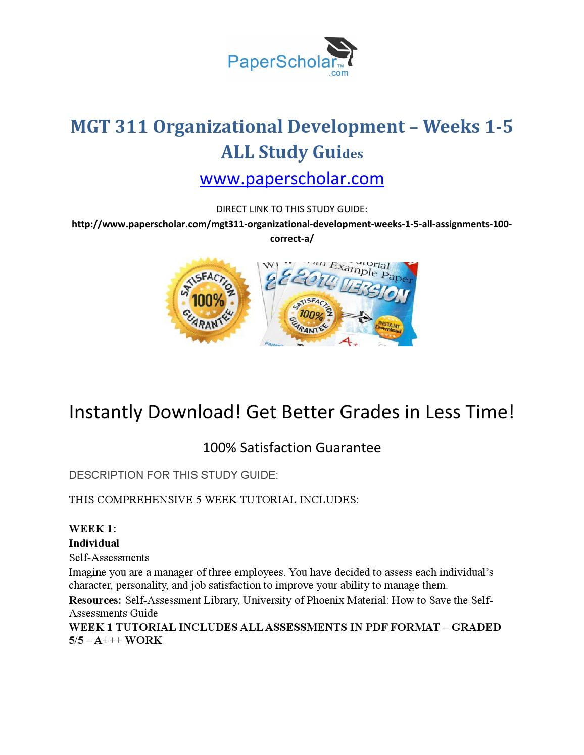 mgt 311 organizational development Homework minutes username forgot password password create account search search by tutorial / question create account ask a question blog faq ask mike question offered price.