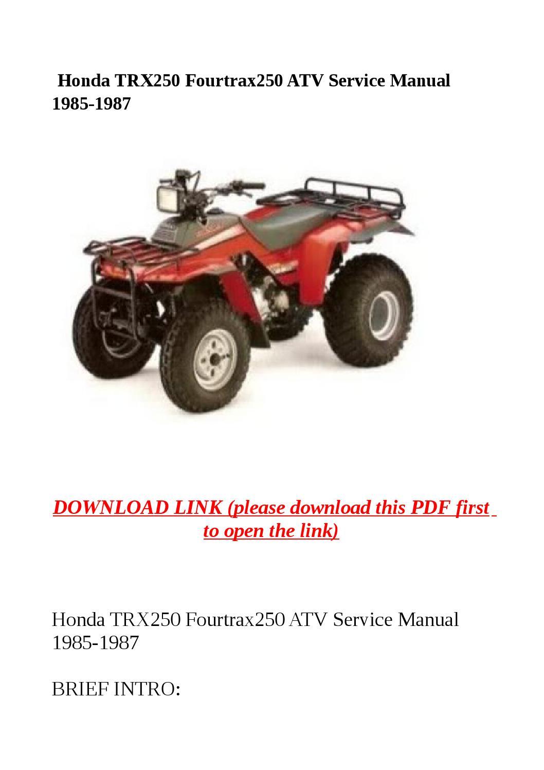 1986-1987 Honda Fourtrax 250 TRX250 Foot Brake Cable