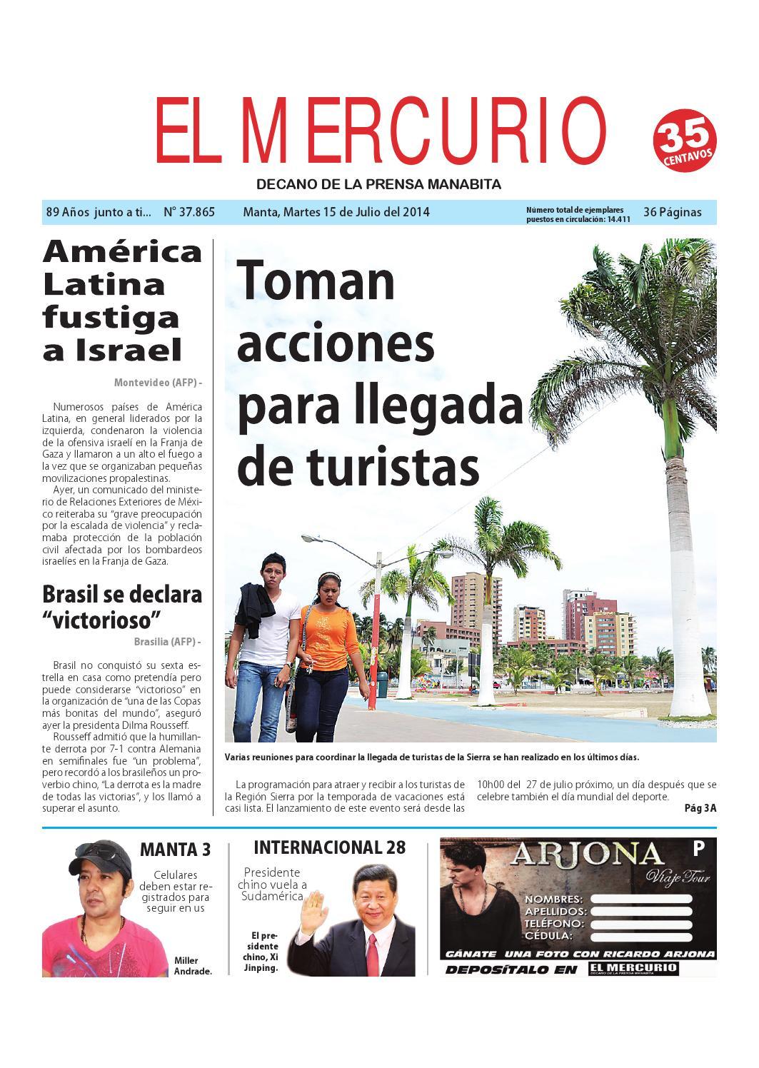 Mercurio martes 15 de julio del 2014 by Diario El mercurio - issuu