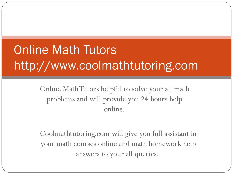 Online math tutors by jacky wilson - issuu