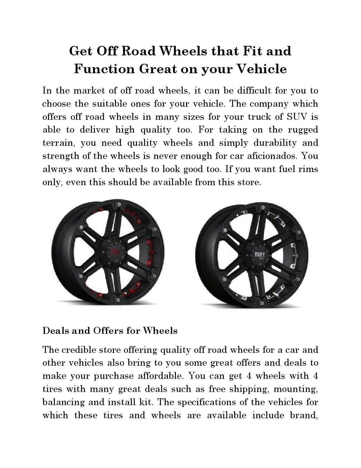 off road wheel deals