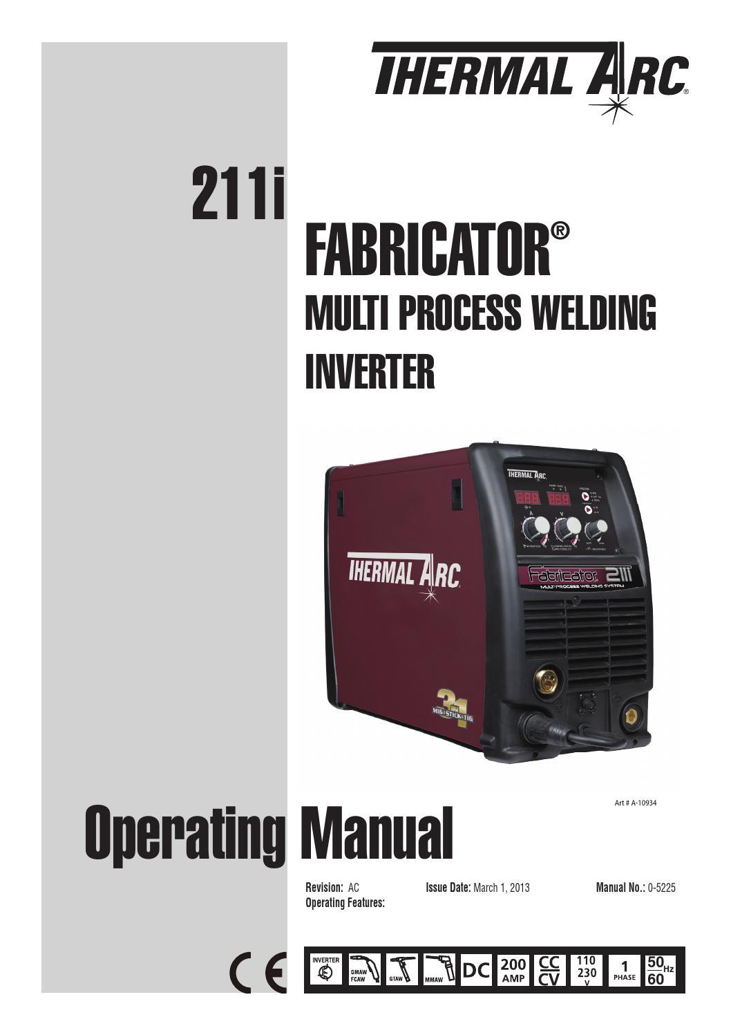 Fabricator 211 Manual By United Welding Supplies Issuu Mode Inverter Arc Welder Schematic On Igbt