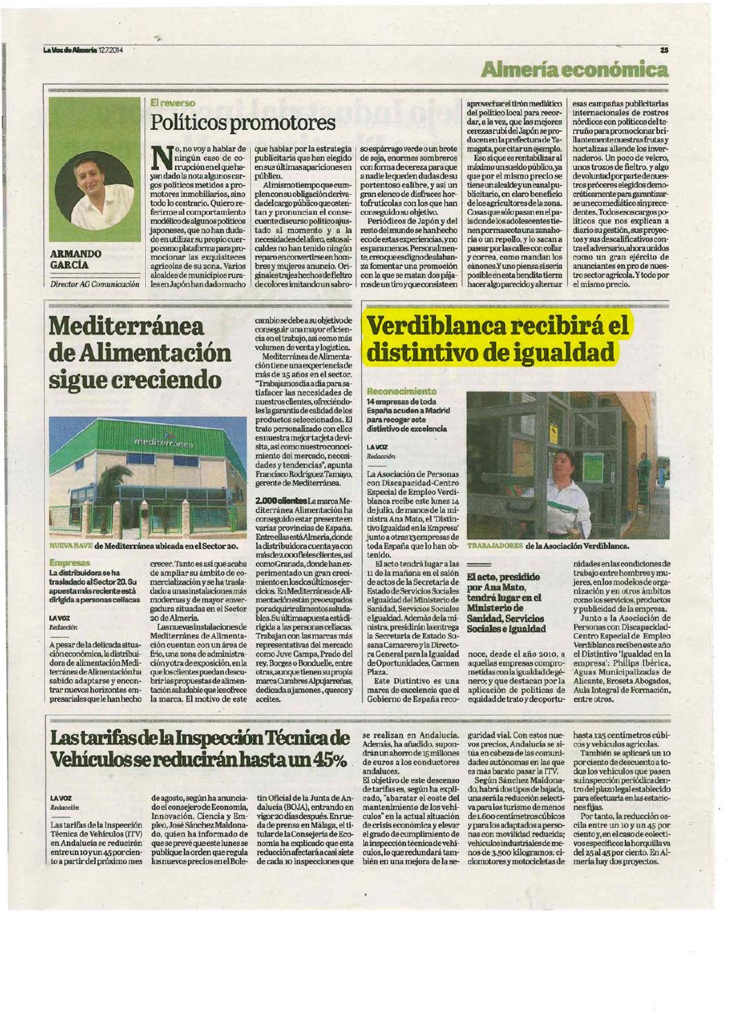 Dossier prensa discapacidad 12 14 julio by Asociación Verdiblanca ...