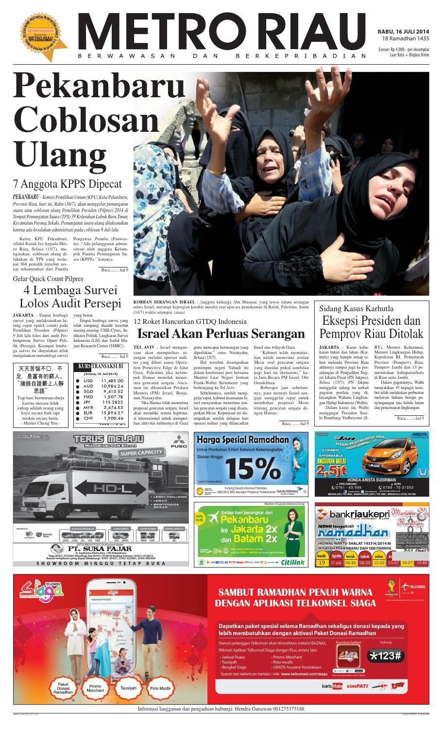 160714 By Harian Pagi Metro Riau Issuu