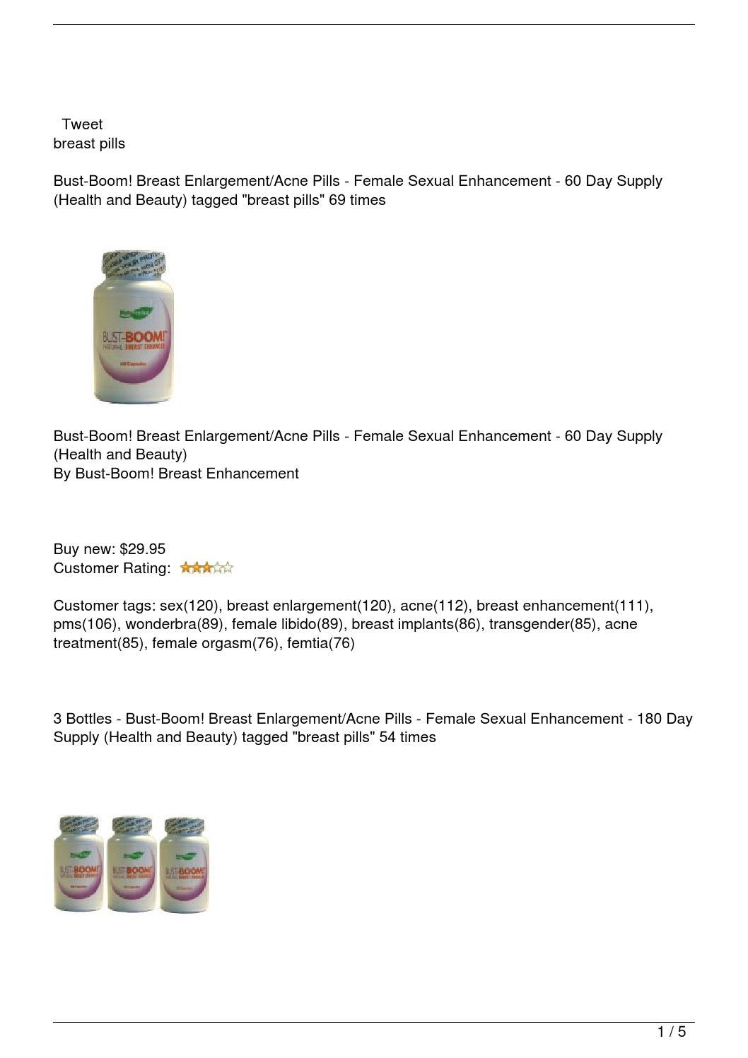 bust boom breast enlargement pills